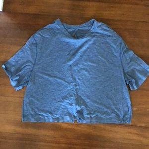 Lululemon crop open back t shirt